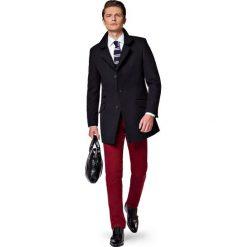 Płaszcz Czarny Andro. Czarne płaszcze na zamek męskie marki LANCERTO, na jesień, m, z bawełny, eleganckie. W wyprzedaży za 499,90 zł.