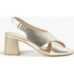 Sandały złote Catalia. Żółte sandały damskie Badura. Za 151,99 zł.