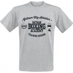Batman Boxing Academy T-Shirt odcienie szarego. Szare t-shirty męskie z nadrukiem marki Batman, l, z okrągłym kołnierzem. Za 74,90 zł.