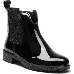 Kalosze RIEKER - P8280-03 Schwarz. Czarne buty zimowe damskie marki Rieker, z materiału. Za 199,00 zł.