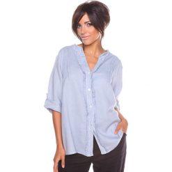 """Bluzki asymetryczne: Lniana bluzka """"Prune"""" w kolorze szarym"""