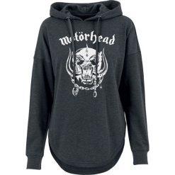 Motörhead England Bluza z kapturem damska odcienie szarego. Szare bluzy rozpinane damskie Motörhead, m, z nadrukiem, z kapturem. Za 164,90 zł.
