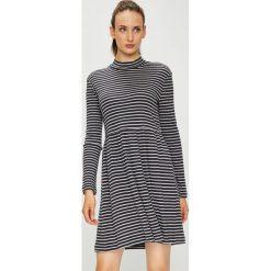 Vero Moda - Sukienka. Szare długie sukienki marki Vero Moda, na co dzień, l, z bawełny, casualowe, z długim rękawem, rozkloszowane. Za 119,90 zł.