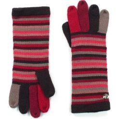 Rękawiczki damskie: Art of Polo Rękawiczki damskie Kolorowe Pasy czerwone (rk13435)