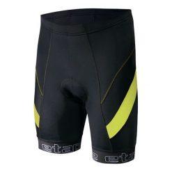 Etape Spodenki Rowerowe Profi Pas Black/Yellow Fluo M. Czarne odzież rowerowa męska marki Etape, w paski, sportowe. W wyprzedaży za 159,00 zł.