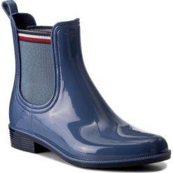 Buty zimowe damskie: Kalosze TOMMY HILFIGER – Odette 11R FW0FW01526 Jeans 013