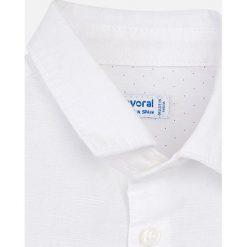 Mayoral - Koszula dziecięca 68-98 cm. Szare koszule chłopięce z krótkim rękawem marki Mayoral, z bawełny, z włoskim kołnierzykiem. Za 84,90 zł.