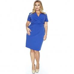 Niebieska Elegancka Sukienka z Założeniem Kopertowym. Brązowe sukienki balowe marki Mohito, l, z kopertowym dekoltem, kopertowe. W wyprzedaży za 139,93 zł.