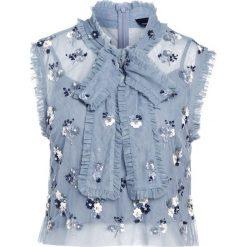 Bluzki asymetryczne: Needle & Thread DITSY Bluzka moonstone