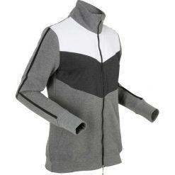 Bluzy rozpinane damskie: Bluza rozpinana, długi rękaw bonprix szary melanż