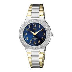 Zegarki damskie: Zegarek Q&Q Damski Q901-405 Cyrkonie Biżuteryjny