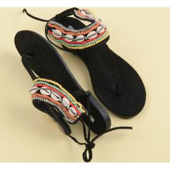 Rzymianki damskie: Wiązane sandałki etno JAIRA