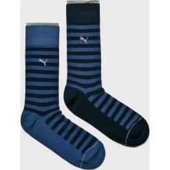 Puma - Skarpety (2-Pack). Niebieskie skarpetki męskie Puma, z bawełny. Za 39,90 zł.