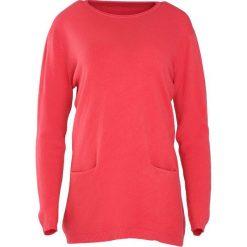 Koralowy Sweter Morning Drizzle. Pomarańczowe swetry klasyczne damskie marki Born2be, xxl, z okrągłym kołnierzem. Za 59,99 zł.