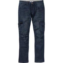 Dżinsy bojówki Regular Fit Straight bonprix ciemnoniebieski. Niebieskie jeansy męskie regular bonprix. Za 59,99 zł.