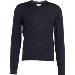 Swetry klasyczne męskie: Armani Collezioni BASIC Sweter dunkelblau