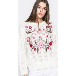Answear - Sweter. Szare swetry klasyczne damskie marki ANSWEAR, l, z poliesteru, z długim rękawem, długie. W wyprzedaży za 79,90 zł.