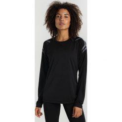ASICS ICON Koszulka sportowa performance black. Czarne topy sportowe damskie Asics, xs, z materiału, z długim rękawem. Za 149,00 zł.