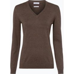 Brookshire - Sweter damski, brązowy. Czarne swetry klasyczne damskie marki brookshire, m, w paski, z dżerseju. Za 129,95 zł.