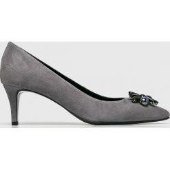 Gino Rossi - Czółenka. Szare buty ślubne damskie Gino Rossi, z gumy, na obcasie. Za 469,90 zł.