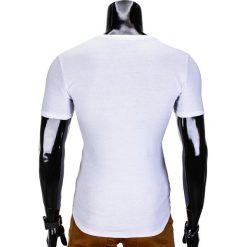 T-SHIRT MĘSKI Z NADRUKIEM S613 - BIAŁY. Białe t-shirty męskie z nadrukiem marki Ombre Clothing, m. Za 29,00 zł.