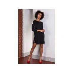 Sportowa sukienka z lampasami, SUK150. Sukienki małe czarne marki Lanti, sportowe, z krótkim rękawem, sportowe. Za 169,00 zł.