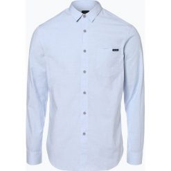 Armani Exchange - Koszula męska, niebieski. Czarne koszule męskie marki Armani Exchange, l, z materiału, z kapturem. Za 299,95 zł.