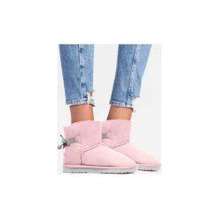 Buty zimowe damskie: Różowo szare śniegowce Kendy