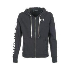 Bluzy sportowe damskie: Under Armour Bluza damska Favorite FZ Hoodie czarna r.S (1302361-001)