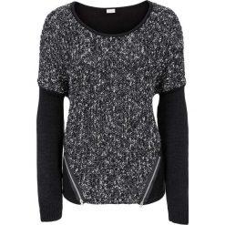 Swetry klasyczne damskie: Sweter bonprix czarny melanż