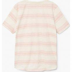 Mango Kids - T-shirt dziecięcy Oriol 110-164 cm. Szare t-shirty chłopięce marki Mango Kids, z bawełny, z okrągłym kołnierzem. W wyprzedaży za 19,90 zł.