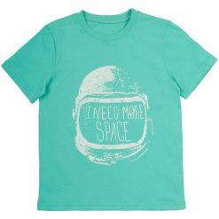 Garnamama Koszulka Chłopięca 134 Zielony. Niebieskie t-shirty chłopięce marki Garnamama, z napisami, z bawełny. Za 42,00 zł.