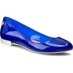 Baleriny LEMON JELLY  - Matilda 02 Candy Blue/White. Niebieskie baleriny damskie lakierowane Lemon Jelly, z gumy. W wyprzedaży za 159,00 zł.