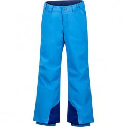 """Spodnie narciarskie """"Vertical"""" w kolorze granatowo-błękitnym. Niebieskie spodnie chłopięce marki Marmot Kids, z haftami, z materiału. W wyprzedaży za 215,95 zł."""