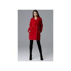 Płaszcz M625 Czerwony. Czerwone płaszcze damskie FIGL, l, z tkaniny. Za 299,00 zł.