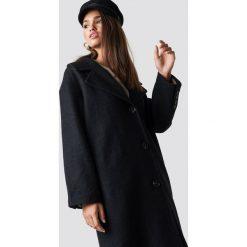 Hannalicious x NA-KD Płaszcz oversize z domieszką wełny - Black. Niebieskie płaszcze damskie wełniane marki Reserved. Za 404,95 zł.