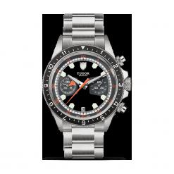ZEGAREK TUDOR HERITAGE CHRONO 70330N 95740 BLACK/GREY IND W. Czarne zegarki męskie TUDOR, szklane. Za 18190,00 zł.