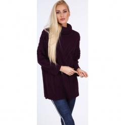Fioletowy sweter z golfem 0210. Czarne golfy damskie marki Fasardi, m, z dresówki. Za 89,00 zł.