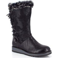 """Buty zimowe damskie: Kozaki """"Maeva"""" w kolorze czarnym"""