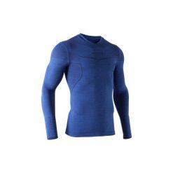 Koszulka termoaktywna długi rękaw dla dorosłych Kipsta Keepdry 500. Niebieskie odzież termoaktywna męska KIPSTA, m, ze skóry. Za 49,99 zł.