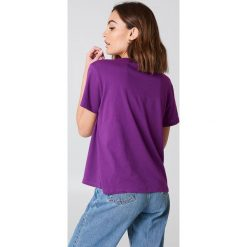 T-shirty damskie: NA-KD Basic T-shirt oversize – Purple