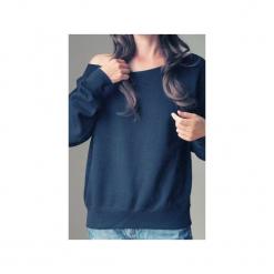 Czarna bluza dla karmiących matek. Szare bluzy z nadrukiem damskie One mug a day, s, z bawełny. Za 119,00 zł.