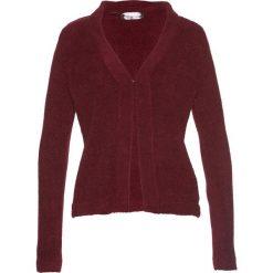 Sweter rozpinany z puszystej przędzy bonprix czerwony klonowy. Czerwone kardigany damskie bonprix. Za 54,99 zł.