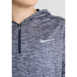Nike Performance RUNNING HOODY DRY Koszulka sportowa thunder blue/heather/refelctive silver. Niebieskie topy sportowe damskie Nike Performance, s, z elastanu. W wyprzedaży za 207,20 zł.
