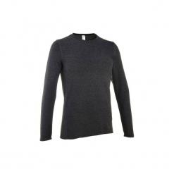 Sweter turystyczny NH100 męski. Czarne swetry klasyczne męskie marki QUECHUA, m, z materiału. Za 19,99 zł.