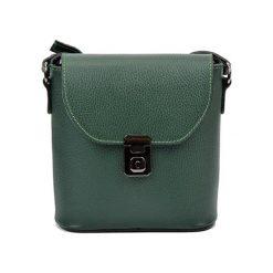 Torebki klasyczne damskie: Skórzana torebka w kolorze zielonym – (S)21 x (W)22 x (G)7,5 cm