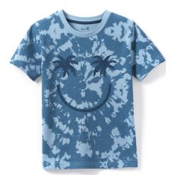 Odzież chłopięca: T-shirt z okrągłym dekoltem, nadrukiem i krótkim rękawem