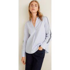 Mango - Koszula Gigi. Szare koszule damskie Mango, l, w paski, z bawełny, klasyczne, z klasycznym kołnierzykiem, z długim rękawem. Za 139,90 zł.