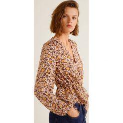 Mango - Bluzka Bichin. Różowe bluzki z odkrytymi ramionami marki Mango, l, z materiału, casualowe, z krótkim rękawem. Za 139,90 zł.