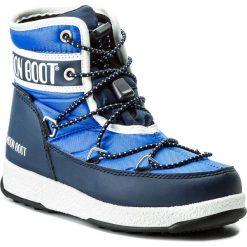 Buty zimowe chłopięce: Śniegowce MOON BOOT – We Jr Mid Wp 34051200002 Royal/Navy